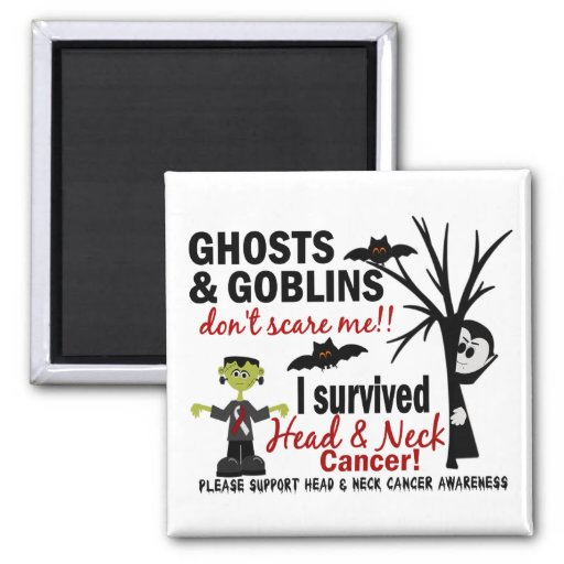 Halloween 1 Head And Neck Cancer Survivor Magnets