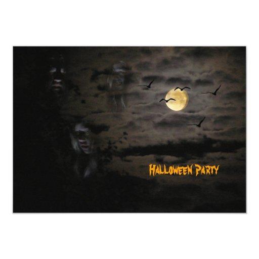 "Halloween #1 invitación 5"" x 7"""