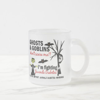 Halloween 1 Juvenile Diabetes Warrior 10 Oz Frosted Glass Coffee Mug
