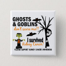Halloween 1 Kidney Cancer Survivor Pinback Button