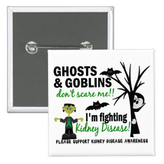 Halloween 1 Kidney Disease Warrior Button