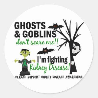 Halloween 1 Kidney Disease Warrior Classic Round Sticker