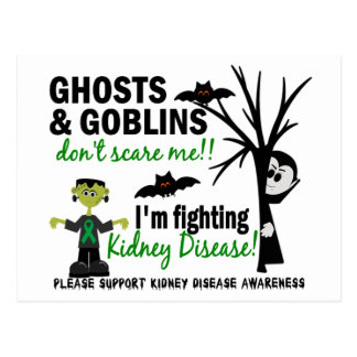 Halloween 1 Kidney Disease Warrior Postcard