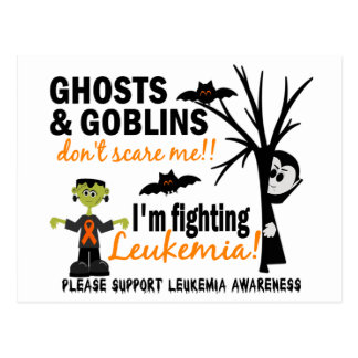 Halloween 1 Leukemia Warrior Postcard