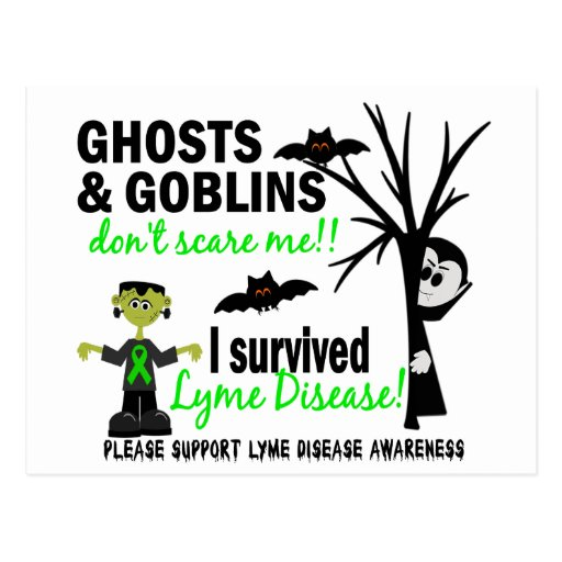 Halloween 1 Lyme Disease Survivor Post Card