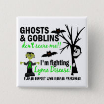 Halloween 1 Lyme Disease Warrior Pinback Button