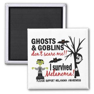 Halloween 1 Melanoma Survivor 2 Inch Square Magnet