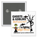 Halloween 1 Multiple Sclerosis Warrior 2 Inch Square Button