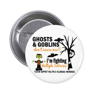 Halloween 1 Multiple Sclerosis Warrior 2 Inch Round Button