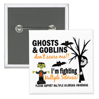 Halloween 1 Multiple Sclerosis Warrior Pinback Button