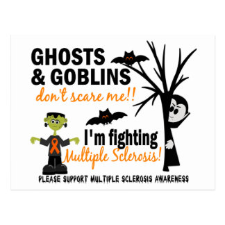 Halloween 1 Multiple Sclerosis Warrior Post Card