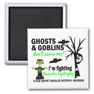 Halloween 1 Muscular Dystrophy Warrior 2 Inch Square Magnet
