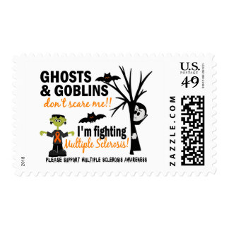 Halloween 1 Muscular Sclerosis Warrior Postage Stamps
