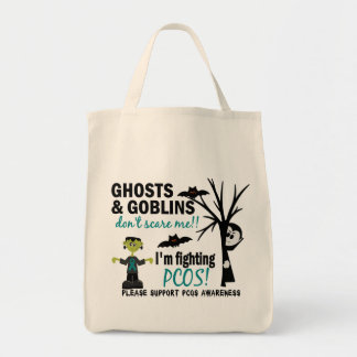 Halloween 1 PCOS Warrior Grocery Tote Bag
