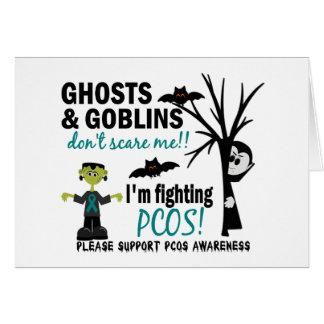 Halloween 1 PCOS Warrior Greeting Card