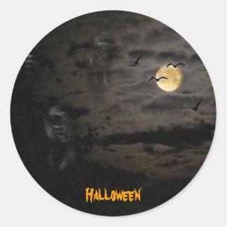 Halloween #1 pegatina redonda