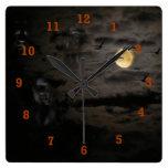 Halloween #1 relojes de pared