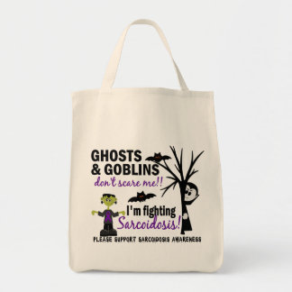 Halloween 1 Sarcoidosis Warrior Grocery Tote Bag