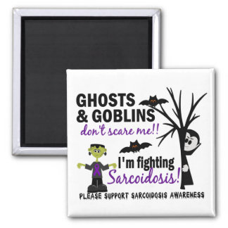 Halloween 1 Sarcoidosis Warrior 2 Inch Square Magnet