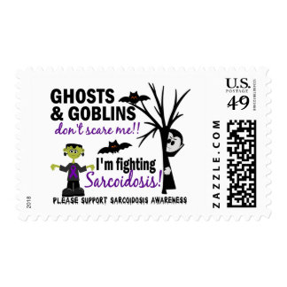 Halloween 1 Sarcoidosis Warrior Postage Stamps