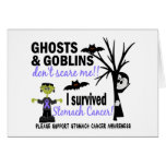Halloween 1 Stomach Cancer Survivor Greeting Cards