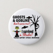 Halloween 1 Stroke Survivor Button