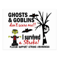 Halloween 1 Stroke Survivor Postcard