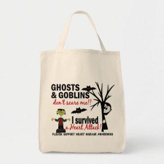 Halloween 1 superviviente de la enfermedad cardíac bolsa tela para la compra