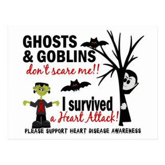 Halloween 1 superviviente de la enfermedad tarjeta postal