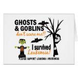 Halloween 1 superviviente de la leucemia tarjeton