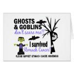 Halloween 1 superviviente del cáncer de estómago tarjetón