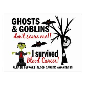 Halloween 1 superviviente del cáncer de sangre tarjetas postales