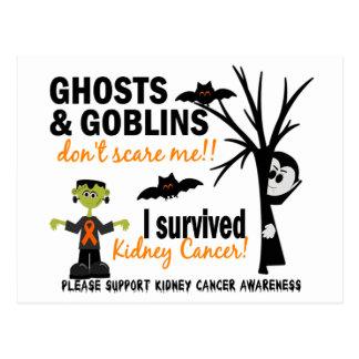 Halloween 1 superviviente del cáncer del riñón tarjetas postales