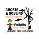 Halloween 1 Uterine Cancer Warrior Post Card