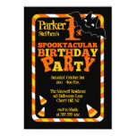 Halloween 1st Spooktacular Birthday Party 5x7 Paper Invitation Card