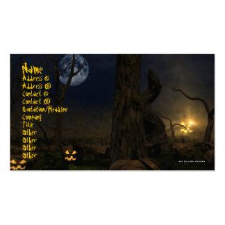 Halloween 2009 Business Card Template