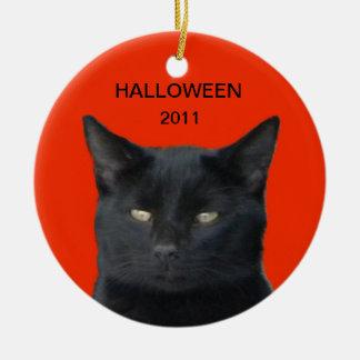 Halloween 2011 - Black cat Ornaments