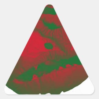Halloween 2017 Jack O Lantern Triangle Sticker