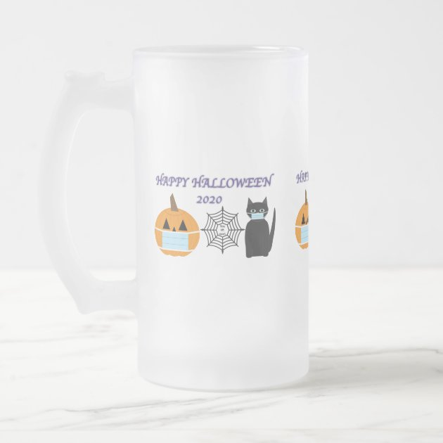 Halloween 2020 Frosted Glass Beer Mug Zazzle Com