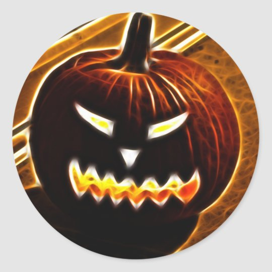 Halloween 2.1 - No Text Classic Round Sticker
