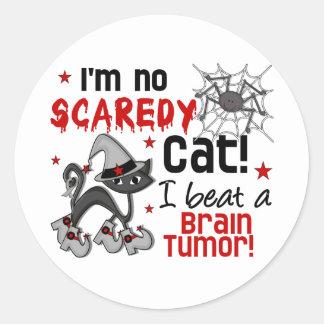 Halloween 2 Brain Tumor Survivor Classic Round Sticker