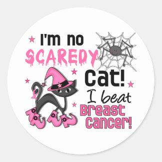 Halloween 2 Breast Cancer Survivor Round Sticker