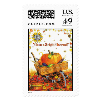 halloween 2 flat postage stamp