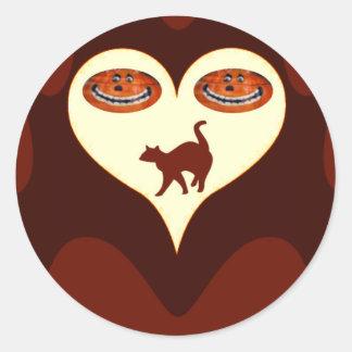 Halloween #2_ round sticker