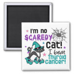 Halloween 2 Thyroid Cancer Survivor 2 Inch Square Magnet