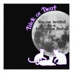 Halloween 3 gatos invitación 13,3 cm x 13,3cm