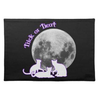 Halloween 3 gatos manteles