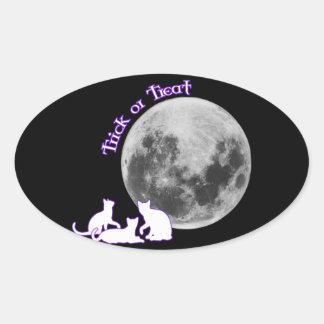 Halloween 3 gatos calcomanías de ovaladas