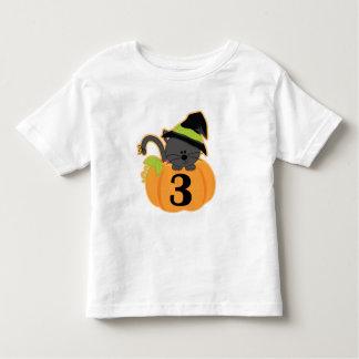 Halloween 3rd Birthday Pumpkin Toddler T-shirt