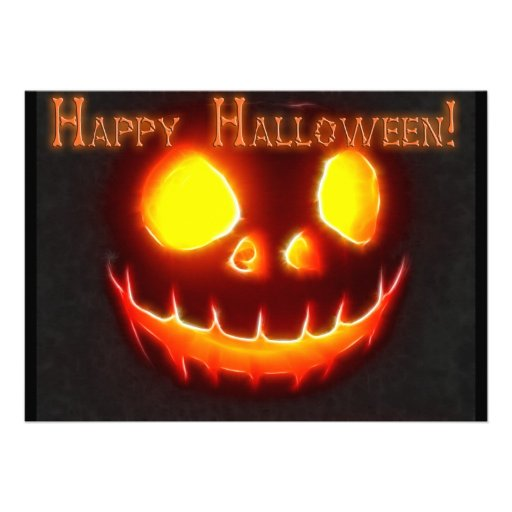 Halloween 4 with Text Invitation